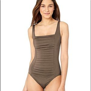 Calvin Kline Bronze Metallic Bathing Suit